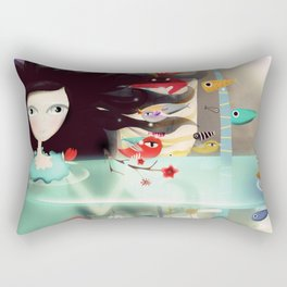 Light and Transparency illustration The Moon Rectangular Pillow