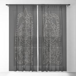 Old Swedish viking runestone Sheer Curtain