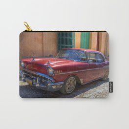 Street scene with old car in Havana Carry-All Pouch