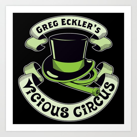The Vicious Circus Badge - Color Art Print