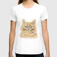 watercolour T-shirts featuring cat - watercolour by echoes