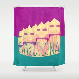 Barcelona Gaudi's Paradise Shower Curtain