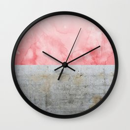 Concrete and Pink Wall Clock