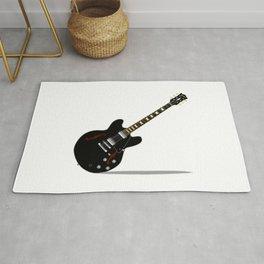 Black Semi Solid Guitar Rug