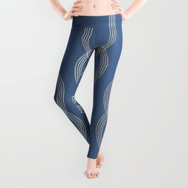 Simply Infinity Link in White Gold Sands on Aegean Blue Leggings