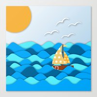 adventure Canvas Prints featuring Adventure by General Design Studio