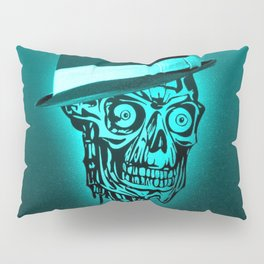 Elegant Skull with hat,mint Pillow Sham