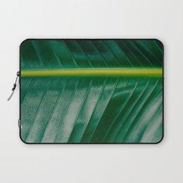 Close Up Of A Banana Leaf Tropical Green Leaf Moisture Droplets Wet Leaf Laptop Sleeve