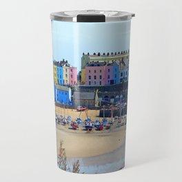 Tenby Harbour.Colour.Reflection. Travel Mug
