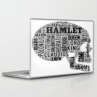 hamlet Laptop & iPad Skins featuring Shakespeare's Hamlet Skull by MollyW
