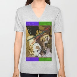 Roz, Buster, Peppy and Jamie Unisex V-Neck