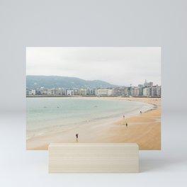 La Concha Beach, San Sebastian - Donostia-San, Spain Mini Art Print