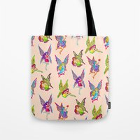 fairies Tote Bags featuring Fairies by Elizabeth Kate