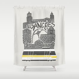 Los Angeles Cityscape Shower Curtain