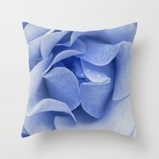 Blue flora Rose Bud- Roses and flowers Throw Pillow