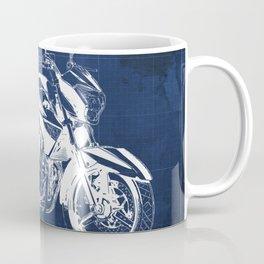 Motorcycle blueprint, 2012 Suzuki Inazuma 250, japanese bike Coffee Mug