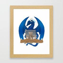 Clan Lochguard Blue Crest Framed Art Print