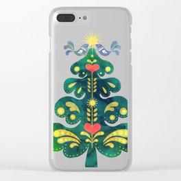 Traditional Scandinavian Folk Art Tree Clear iPhone Case