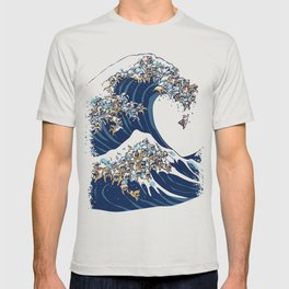 The Great Wave of English Bulldog T-shirt