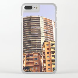 Palaces and skyscrapers of Montecarlo Monaco Clear iPhone Case