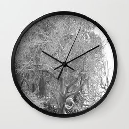 Reaching out Wall Clock