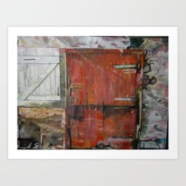 Stable door Art Print