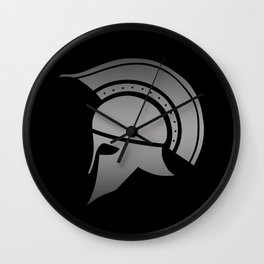 Ancient Greek Spartan Helmet Wall Clock