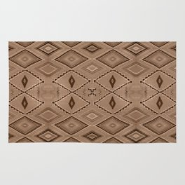 Abstract Pattern inspired by Navajo Weaving in Earthtones Rug