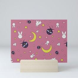 Rabbit Full Moon Mini Art Print