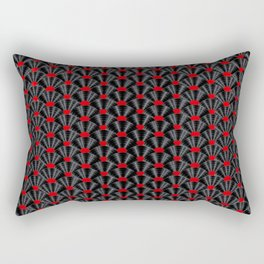 Covered in Vinyl / Vinyl records arranged in scale pattern Rectangular Pillow