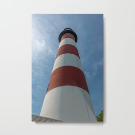 Looking Up at the Assateague Lighthouse in Chincoteague National Wildlife Refuge Virginia  Metal Print