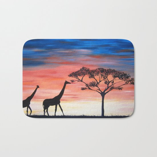 Africa Series - Seeking Shelter Before the Storm Bath Mat
