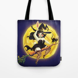 Bunny to the moon Tote Bag
