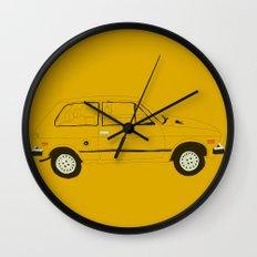 Yugo —The Worst Car in History Wall Clock