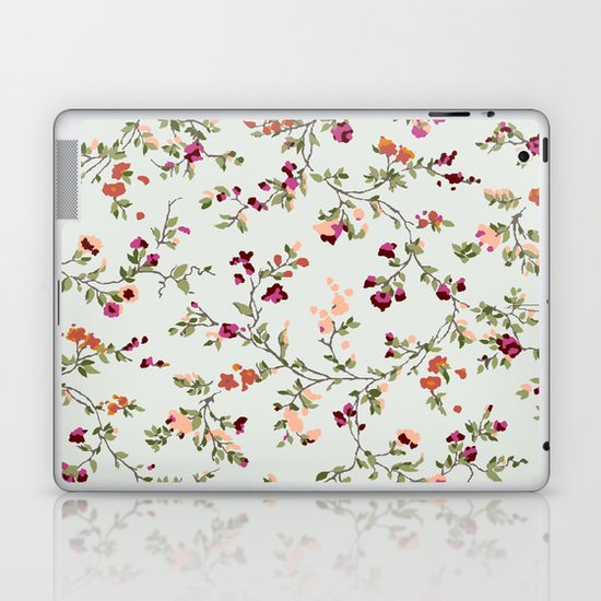 floral vines - neutrals Laptop & iPad Skin