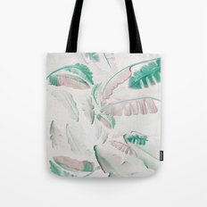 Watercolor banana leaf pattern Tote Bag