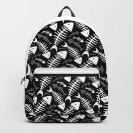 Fish Bone Black & White Backpack