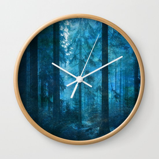 Amazing Nature Forest 2 Wall Clock By Klara Acel Society6