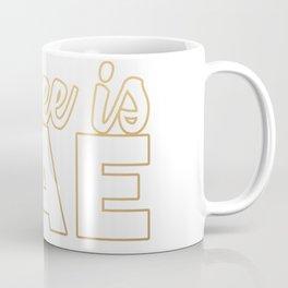 coffee is BAE (gold) Coffee Mug