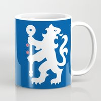 chelsea Mugs featuring Chelsea FC by Khaled