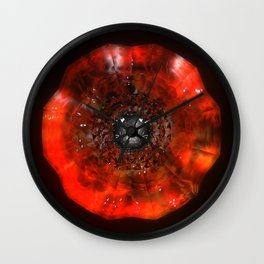 The Eye Of Cyma: Fire And Ice - Frame 40 Wall Clock