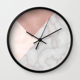 Bermuda bronze - rose gold marble. Wall Clock