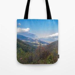 Blue Ridge Peaks Tote Bag