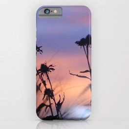 LOOK OUTSIDE - Flowers & Sunset #1 #art #society6 iPhone Case
