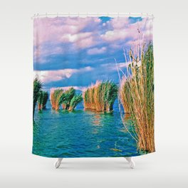Through the reeds Shower Curtain