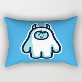Kawaii Cute Abominable Snowman Yeti Rectangular Pillow