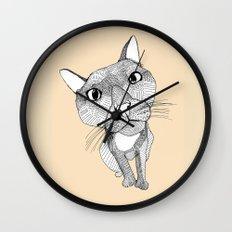 BigHead Cat Wall Clock