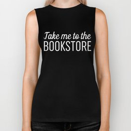 Take Me To The Bookstore Black Biker Tank