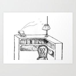 Sylvia Plath's Room Art Print