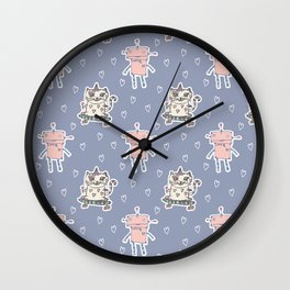 Christelle - Robot Cat Wall Clock